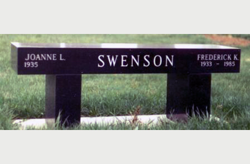 Memorial Bench For Swenson Family